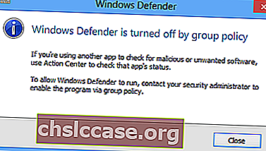 Program Windows Defender je vypnut zásadami skupiny