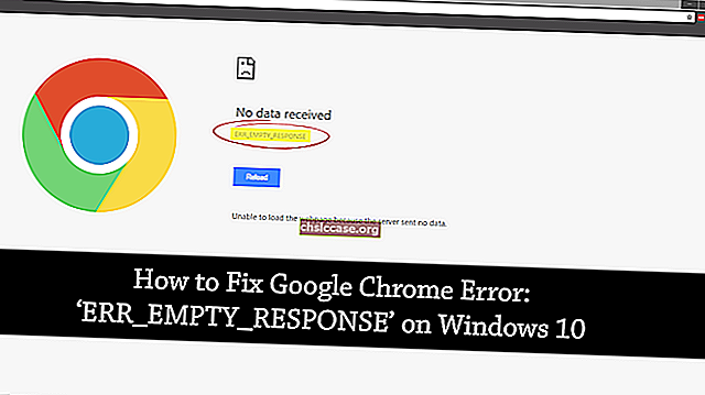Løs ERR_EMPTY_RESPONSE-fejl i Chrome på Windows 10